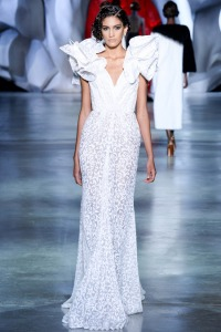 Ulyana Sergeenko white gown
